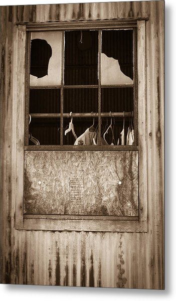 Hangers In The Window Metal Print