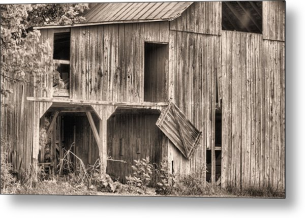 Hanging By A Moment Bw Metal Print by JC Findley