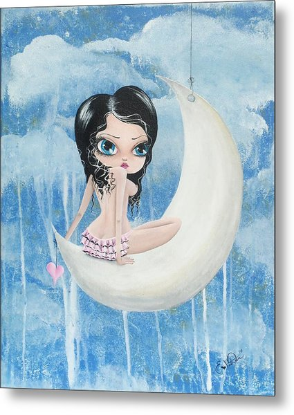 Hanging On The Moon Metal Print