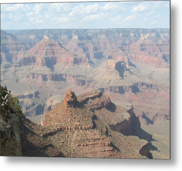 Hanging Over The Edge Metal Print
