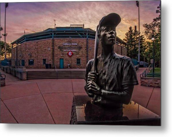 Hank Aaron Statue Metal Print