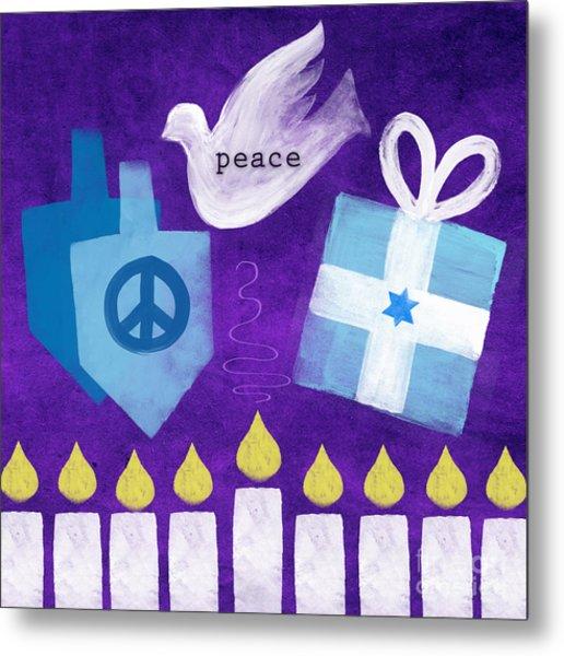 Hanukkah Peace Metal Print