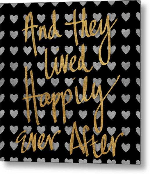 Happily Ever After Pattern Metal Print