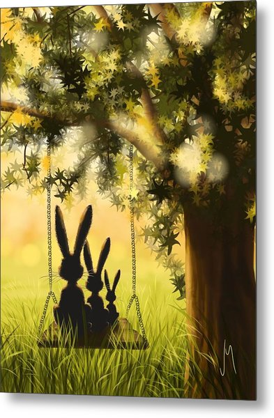 Happily Together Metal Print