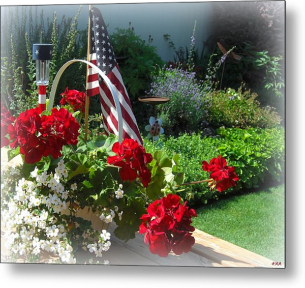Happy 4th Flowers Metal Print