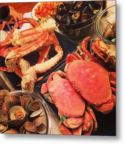 Happy Birthday Dad! It's A #seafood Metal Print