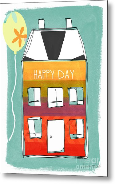 Happy Day Card Metal Print