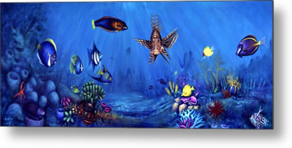 Metal Print featuring the painting Happy Family by Lynn Buettner