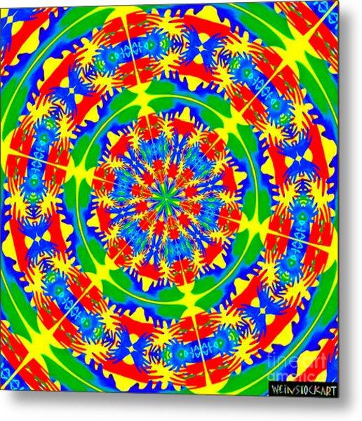 Happy Hands Mandala Metal Print