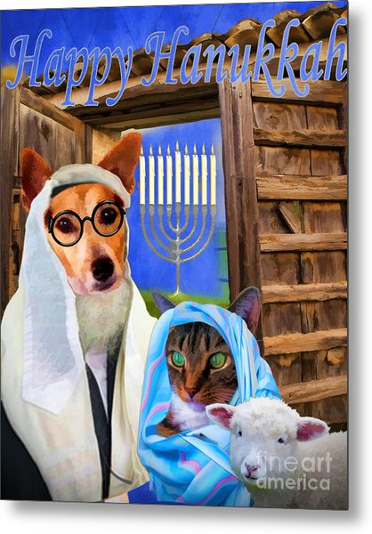 Happy Hanukkah  - 2 Metal Print