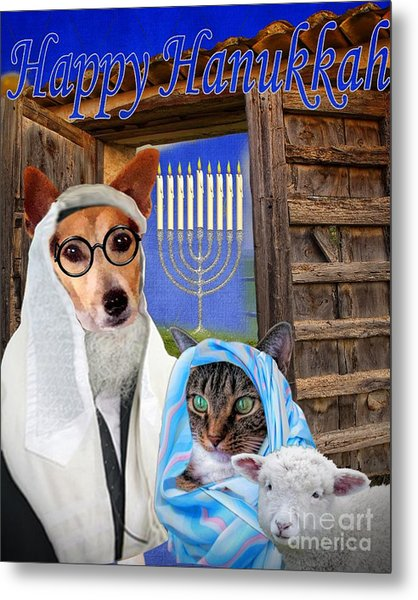 Happy Hanukkah -1 Metal Print
