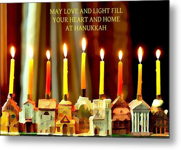 Happy Hanukkah 5 Metal Print