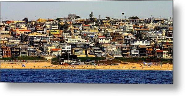 Happy Hillside Squeeze Metal Print
