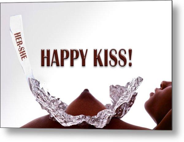 Happy Kiss Metal Print by Dario Infini