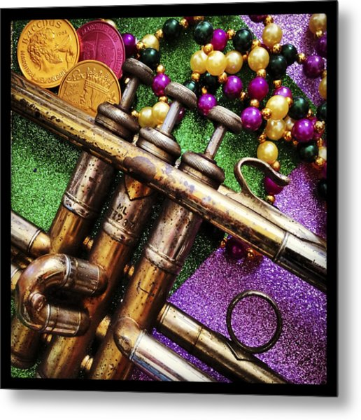 Happy Mardi Gras Metal Print