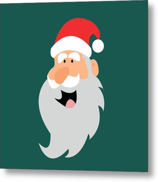 Happy Santa Metal Print by Kenneth Feliciano
