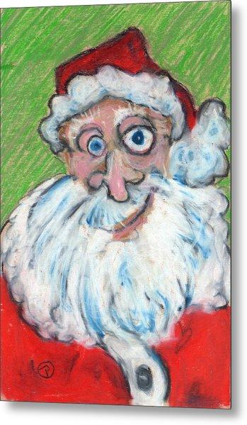 happy Santa Metal Print