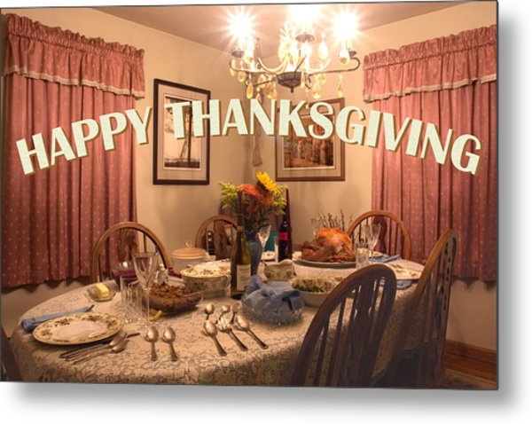 Happy Thanksgiving Card Metal Print