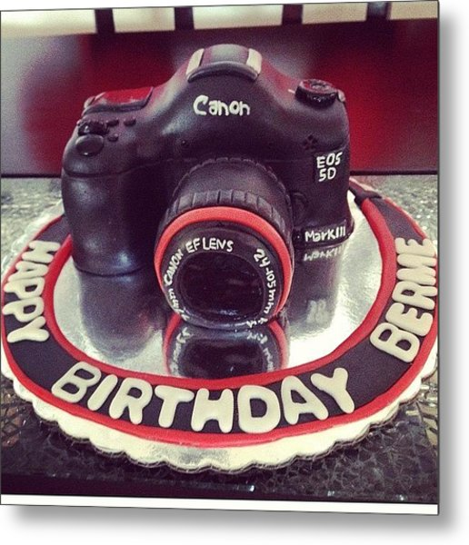 #happy#birthday#cake#camera#canon#yummy Metal Print