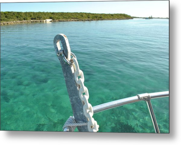 Harbor At Nassau Metal Print by Misty Stach