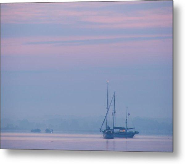 Harbor Before Dawn Metal Print