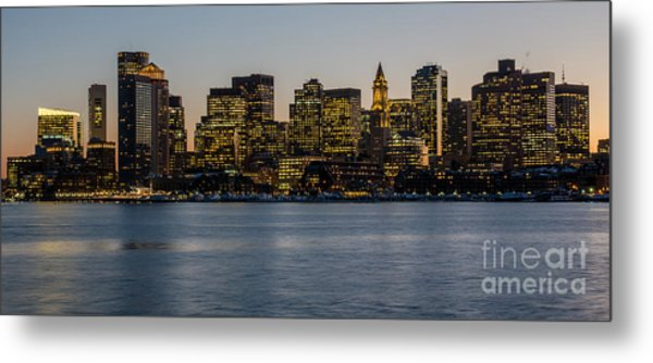 Harbor City Metal Print