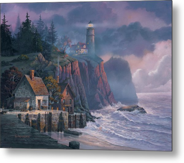 Harbor Light Hideaway Metal Print