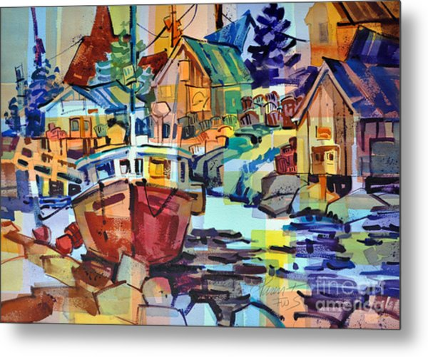Harbor Glow Metal Print
