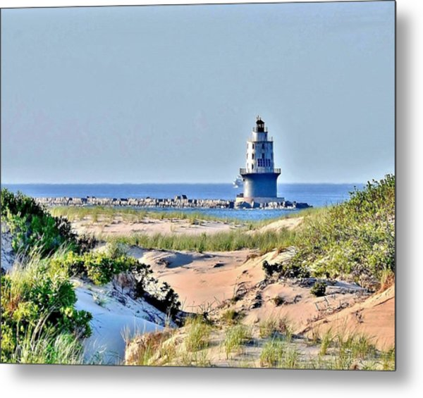 Harbor Of Refuge Lighthouse Metal Print