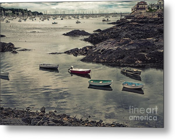 Harbor On A Cloudy Day Metal Print