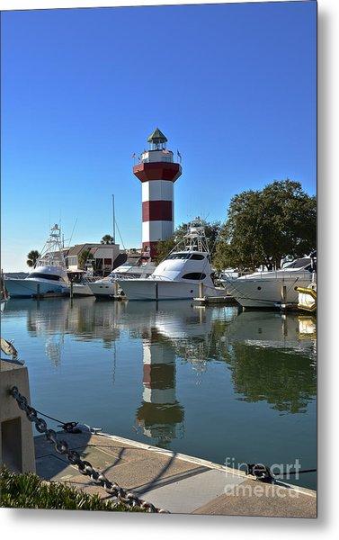 Harbor Town Lighthouse Metal Print
