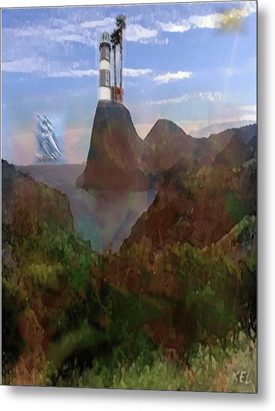 Harbour Light Metal Print