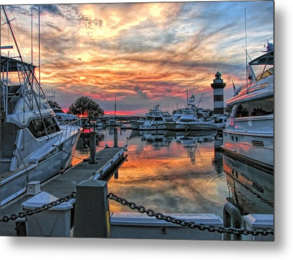Harbour Town Yacht Basin Metal Print