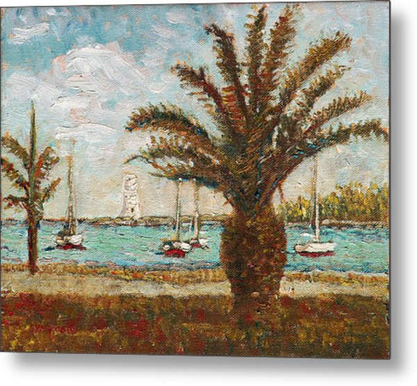 Harbour View - Nassau Metal Print