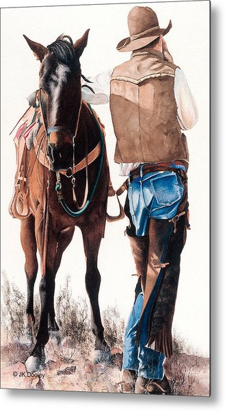Hard Day's Ride Metal Print