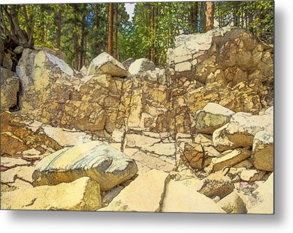 Hard Rock Forest Metal Print