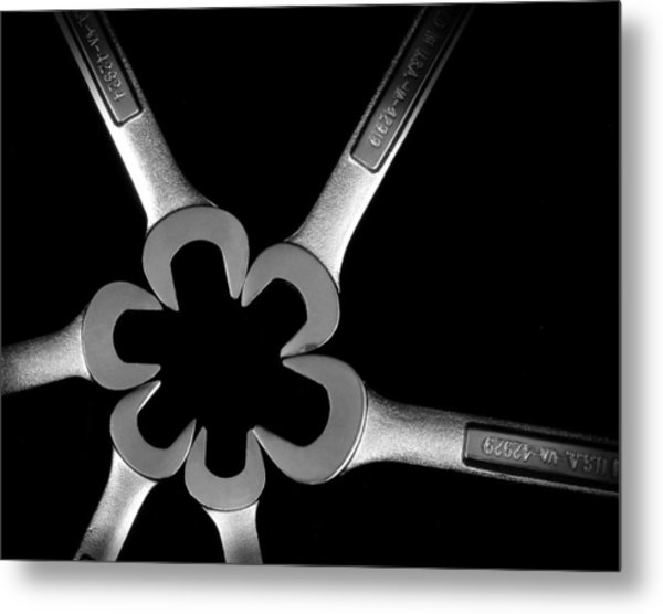 Hardware Bouquet Metal Print