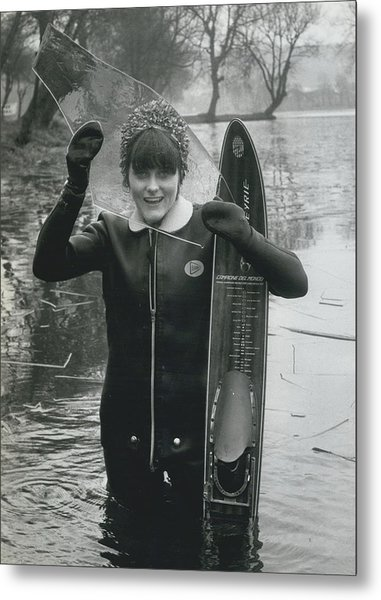 Hardy Jeannette Breaks The Ice At Rickmansworth Aquadrome Metal Print by Retro Images Archive