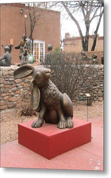 Hare In Santa Fe Metal Print