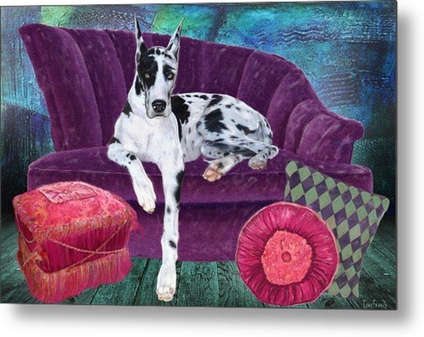 Harlequin Haven Metal Print