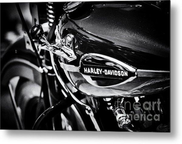 Harley Davidson Monochrome Metal Print