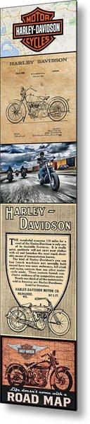 Harley-davidson Montage Metal Print