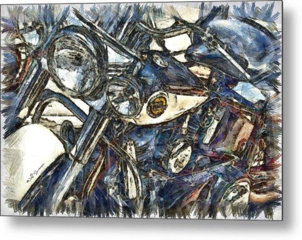 Harley Davidson Painted Metal Print