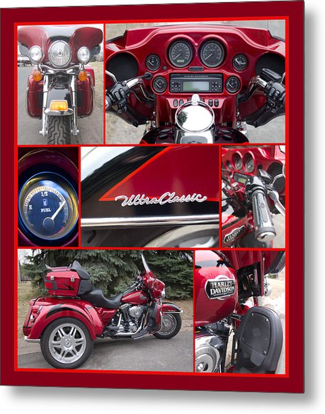 Metal Print featuring the photograph Harley Davidson Ultra Classic Trike by Patti Deters