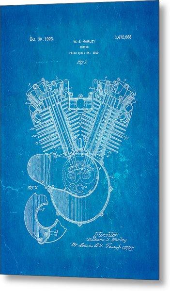 Harley davidson v twin engine patent art 1923 blueprint photograph harley davidson v twin engine patent art 1923 blueprint metal print by ian monk malvernweather Choice Image