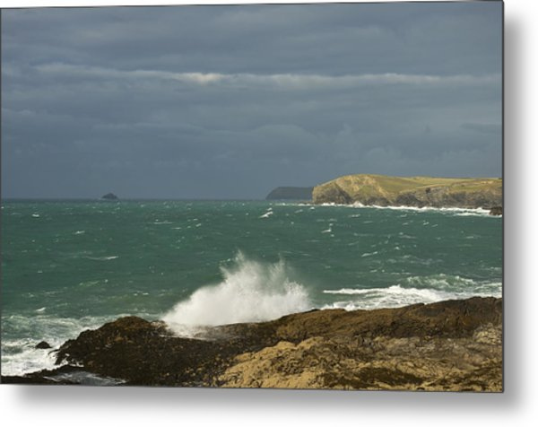 Harlyn Bay In North Cornwall Metal Print
