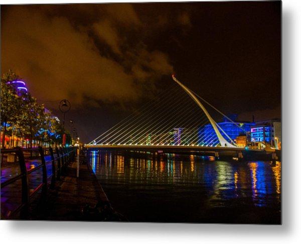 Harp Bridge Dublin Metal Print