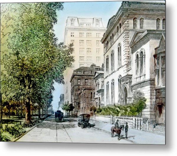 Harrison Residence East Rittenhouse Square Philadelphia C 1890 Metal Print