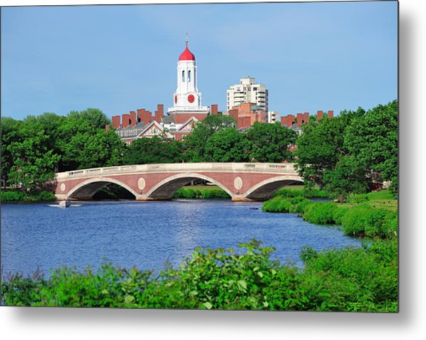 Harvard University Campus In Boston Metal Print