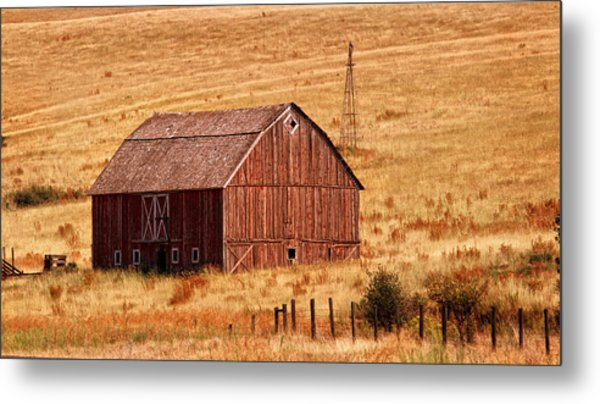 Harvest Barn Metal Print